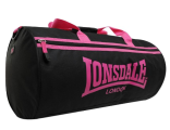 Сумка Lonsdale London Barrel Bag Old Collection Черный / Розовый