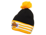 Шапка Adidаs NBA Los Angeles Lakers Bommel Beanie D82552 Черный / Желтый